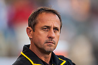 Columbus Crew head coach Robert Warzycha prior to playing the Philadelphia Union. The Philadelphia Union defeated the Columbus Crew 3-0 during a Major League Soccer (MLS) match at PPL Park in Chester, PA, on June 5, 2013.