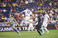 HARRISON, NJ - Tuesday July 21, 2015: French powerhouse Paris Saint-Germain (PSG) takes on Italian Serie A squad Fiorentina as part of the Guinness International Champions Cup at Red Bull Arena.