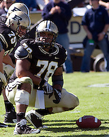 October 03, 2008: Purdue center Cory Benton. The Penn State Nittany Lions defeated the Purdue Boilermakers 20-06 on October 03, 2008 at Ross-Ade Stadium, West Lafayette, Indiana.