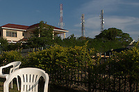 Cell towers over Kampala's first gated community.