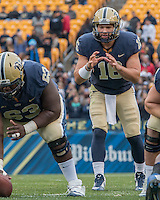 Pitt quarterback Chad Voytik (16). The Duke Blue Devils defeated the Pitt Panthers 51-48 at Heinz Field, Pittsburgh Pennsylvania on November 1, 2014.
