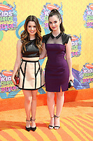 Laura Marano, Vanessa Marano<br /> at Nickelodeon's 27th Annual Kids' Choice Awards, USC Galen Center, Los Angeles, CA 03-29-14<br /> David Edwards/DailyCeleb.Com 818-249-4998