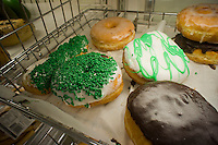 Assorted donuts are seen in a supermarket bakery department in New York on Saturday, March 12, 2011. (© Richard B. Levine)