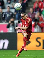 FUSSBALL   1. BUNDESLIGA  SAISON 2011/2012   27. Spieltag FC Bayern Muenchen - Hannover 96       24.03.2012 Franck Ribery (FC Bayern Muenchen) am Ball