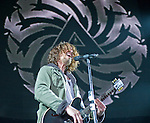 Soundgarden lead singer Chris Cornell performs during their set at the 2012 KROQ Weenie Roast y Fiesta at Verizon Wireless Amphitheater in Irvine.