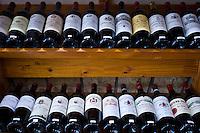Fine wines, Chateau Pavie, La Gaffeliere, Chateau Guadet, Chateau Beausejour on sale in Ets Martin in St Emilion, Bordeaux, France