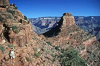 Kaibab trail, Grand Canyon, National Park, teenage, Girls, Hiking, to, the, Bottom,