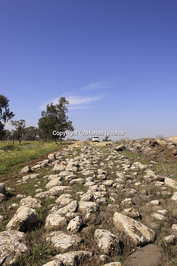 Israel, Lower Galilee, the Roman road near Golani junction