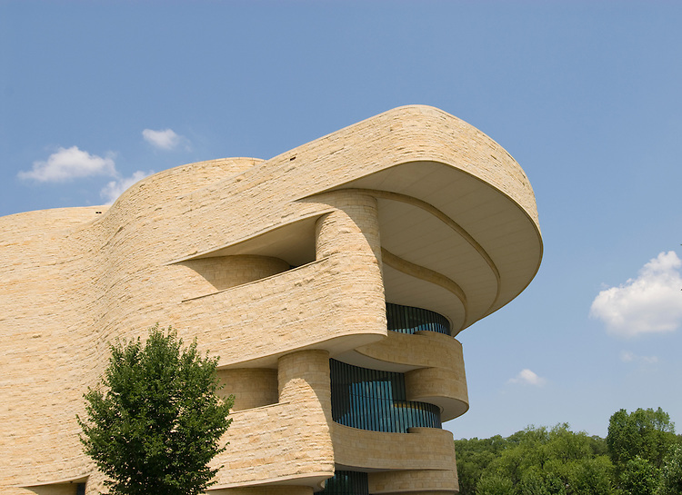Washington DC; USA:  National Museum of the American Indian, inspiring new architecture on the Mall..Photo copyright Lee Foster Photo # 12-washdc83289
