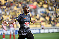 Rolieny Bonevacia in action during the A League - Wellington Phoenix v Melbourne City at Westpac Stadium, Wellington, New Zealand on Sunday 30 November 2014.