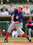 10 March 2006: Nick Johnson, first baseman for the Washington Nationals, at bat during a Spring Training game against the Houston Astros. The Astros defeated the Nationals 8-6 at Osceola County Stadium, in Kissimmee, Florida...Mandatory Photo Credit: Ed Wolfstein..