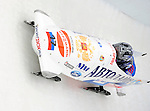 15 December 2007: Russia 1 pilot Alexander Zoubkov with brakeman Alexei Andrynin enter turn 17 during their second run at the FIBT World Cup Bobsled Competition at the Olympic Sports Complex on Mount Van Hoevenberg, at Lake Placid, New York, USA. ..Mandatory Photo Credit: Ed Wolfstein Photo