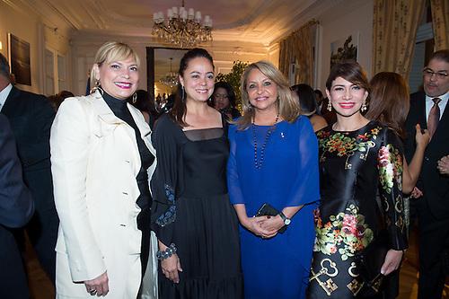 De izquierda a derecha, los señores Sabrina Brugal, Mercedes Castillo, Rosa Hernández de Grullón y Grey Cuello.