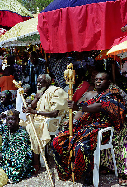 Durbar of Ashanti tribal chiefs in Accra, Ghana