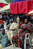 Durbar of Ashanti tribal chiefs in Accra, Ghana