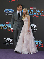 """HOLLYWOOD, CA - April 19: Chris Pratt, Anna Faris, At Premiere Of Disney And Marvel's """"Guardians Of The Galaxy Vol. 2"""" At The Dolby Theatre  In California on April 19, 2017. Credit: FS/MediaPunch"""