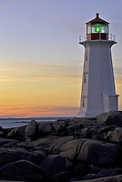 Sunset at Peggy's Cove Lighthouse #LH10