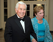 United States Senator Richard Lugar (Republican of Indiana) and his wife, Charlene, arrive for the Official Dinner in honor of Prime Minister David Cameron of Great Britain and his wife, Samantha, at the White House in Washington, D.C. on Tuesday, March 14, 2012..Credit: Ron Sachs / CNP.(RESTRICTION: NO New York or New Jersey Newspapers or newspapers within a 75 mile radius of New York City)