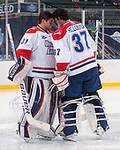 Doug Carr (UML - 31), Connor Hellebuyck (UML - 37) - The Northeastern University Huskies defeated the University of Massachusetts Lowell River Hawks 4-1 (EN) on Saturday, January 11, 2014, at Fenway Park in Boston, Massachusetts.