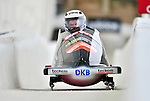 16 December 2010:  Maximillian Arndt pilots a 2-man bobsled for Germany in a training run prior to the Viessmann FIBT World Cup Championships in Lake Placid, New York, USA. Mandatory Credit: Ed Wolfstein Photo