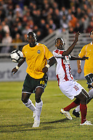 Christian Nzinga, Yordany Alvarez #10...AC St Louis were defeated 1-2 by Austin Aztek in their inaugural home game in front of 5,695 fans at Anheuser-Busch Soccer Park, Fenton, Missouri.