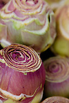 Closeup of artichoke hearts