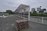 Seattle Cloud Cover, 2004-2006 by Teresita Fernandez, Olympic Sculpture Park run by Seattle Art Museum, Seattle, Washington, US