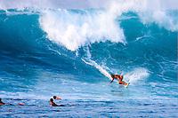 Layne Beachley (AUS) seven times Womens World Surfing Champion turning off the bottom at Sunset Beach Hawaii. circa 2001 Photo: joliphotos.com