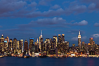 Skyline of New York City and the Empire state Building are seen from Weehawken in New Jersey March 27, 2013. Photo by Kena Betancur/ VIEWpress.