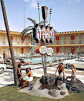 Tahiti Motel in Wildwood Crest, New Jersey. 1960's photographs.