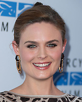 WEST HOLLYWOOD, CA, USA - SEPTEMBER 12: Actress Emily Deschanel arrives at the Mercy For Animals 15th Anniversary Gala held at The London West Hollywood Hotel on September 12, 2014 in West Hollywood, California, United States. (Photo by Xavier Collin/Celebrity Monitor)