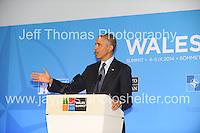 Celtic Manor Resort, Newport, South Wales<br /> <br /> USA President Barack Obama<br /> <br /> <br /> Photographer: Jeff Thomas - Jeff Thomas Photography - 07837 386244/07837 216676 - www.jaypics.photoshelter.com - swansea1001@hotmail.co.uk