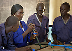 The plumbing class at St. Peter Claver Ecological Training Centre in Rumbek, South Sudan. The Jesuit-sponsored school provides vocational training school in solar energy and water and sanitation.
