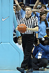 16 February 2013: Referee Jerry Heater. The University of North Carolina Tar Heels played the University of Virginia Cavaliers at the Dean E. Smith Center in Chapel Hill, North Carolina in a 2012-2013 NCAA Division I and Atlantic Coast Conference men's college basketball game. UNC won the game 93-81.