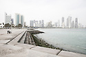 Qatar - Doha - Financial District, view from the Corniche