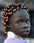A girl in Malakal, Southern Sudan. NOTE: In July 2011 Southern Sudan became the independent country of South Sudan.