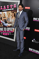 Actor Joe Manganiello arrives at the premiere of 'What To Expect When You're Expecting' held at Grauman's Chinese Theatre in Hollywood.