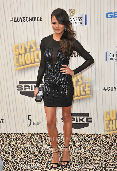 Model Christine Teigen at the 2013 Guys Choice Awards at Sony Studios, Culver City.<br /> June 8, 2013  Los Angeles, CA<br /> Picture: Paul Smith / Featureflash