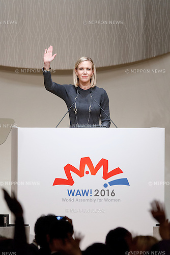 Marne Levine, COO of Instagram speaks during the World Assembly for Women : WAW! 2016 on December 13, 2016, Tokyo, Japan. Female leaders from politics, business, sports and society are attending WAW! 2016 to discuss the roles of women in their countries and affiliations. Japan is trying to increase the participation of women in work and Abe's administration set a goal of increasing the share of women in management roles to 30 percent by 2020. WAW! 2016 is being held from December 13 to 14 at the Grand Prince Hotel New Takanawa in Tokyo. (Photo by Rodrigo Reyes Marin/AFLO)