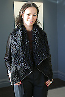 Fashion designer Fiona Cibani, poses at her Ports 1961 Pre-Fall 2011 L'heure bleue collection, December 8, 2010.