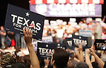 Barack Obama supporters await Obama's entrance at a rally in San Antonio at the Verizon Wireless Ampitheater.  (Marvin Pfeiffer/PressPhotoIntl.com)
