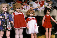 assorted assortment doll toys blonde brunette garage sale flea market