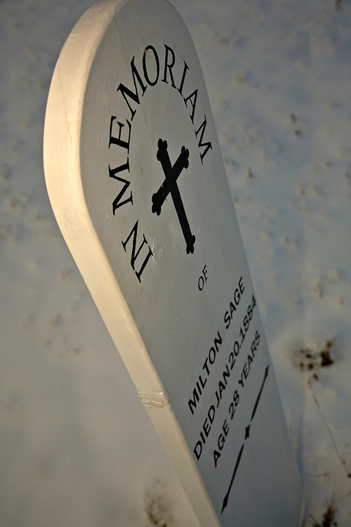 Headstone at Fort Bowie Cemetery
