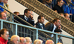 St Johnstone v St Mirren...20.09.11   Scottish Communities League Cup Third Round.Derek McInnes watches the game from the stands as he serves the last of his ban.Picture by Graeme Hart..Copyright Perthshire Picture Agency.Tel: 01738 623350  Mobile: 07990 594431
