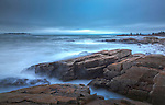 An early winter storm at Schoodic Point in Acadia National Park, Downeast, ME, USA