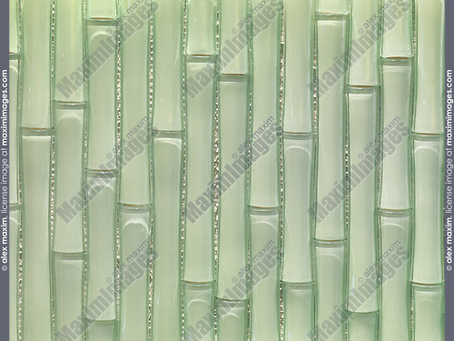 Bamboo shaped glass tiles
