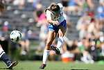 09 September 2012: Duke's Laura Weinberg scores her second goal. The Duke University Blue Devils defeated the Marquette University Golden Eagles 5-2 at Koskinen Stadium in Durham, North Carolina in a 2012 NCAA Division I Women's Soccer game.