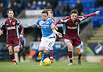 St Johnstone v Stenhousemuir&hellip;21.01.17  McDiarmid Park  Scottish Cup<br />Danny Swanson and Ross Meechan<br />Picture by Graeme Hart.<br />Copyright Perthshire Picture Agency<br />Tel: 01738 623350  Mobile: 07990 594431