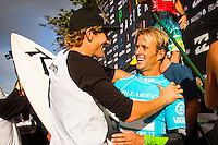 HONOLULU, Oahu, Banzai Pipeline - (Friday, December 14, 2012)  Josh Kerr (AUS) and Bede Durbidge (AUS). -- The Billabong Pipe Masters wrapped up today with the crowning of the 2012 World Title going to Joel Parkinson (AUS) after Josh Kerr (AUS) defeated Kelly Slater (USA) in the second semi final..Photo: joliphotos.com -- The Billabong Pipe Masters wrapped up today with the crowning of the 2012 World Title going to Joel Parkinson (AUS) after Josh Kerr (AUS) defeated Kelly Slater (USA) in the second semi final..Photo: joliphotos.com