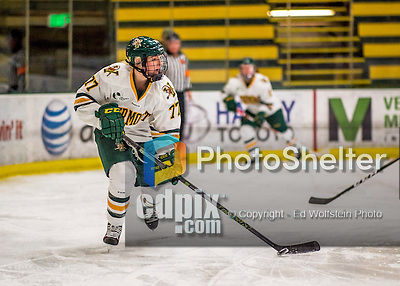 25 November 2016: University of Vermont Catamount Defender Daria O'Neill, a Sophomore from Cochrone, Alberta, in action against the Saint Cloud State Huskies at Gutterson Fieldhouse in Burlington, Vermont. The Lady Cats defeated the Huskies 5-1 to take the first game of the 2016 Windjammer Classic Tournament. Mandatory Credit: Ed Wolfstein Photo *** RAW (NEF) Image File Available ***